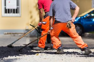 This is a picture of a Houston driveway paving pros.