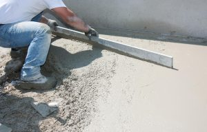 This is a picture of a concrete driveway installation service.